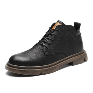 Men's boots ankle boots with a round tip