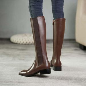 High Heels Boots HighTop Chelsea Boots Knight boots made of leather in British style