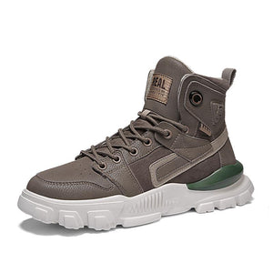 High-top men's sneakers in two colors