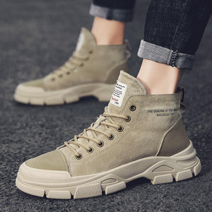 High top Cotton Martin boots men's shoes three colors