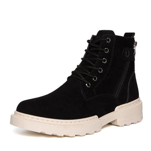 Casual cotton shoes high-top men's tricolor