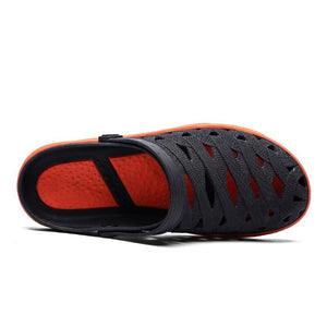 Men breathable hollow casual everyday soft walking beach sandals