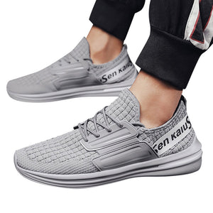 Men Vulcanize Sneakers Men Wild Lightweight Comfortable Pointed Up Solid Shoes Woven Breathable