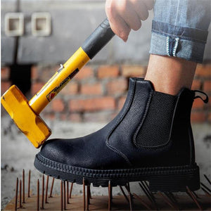 Men Safety Shoes Steel Toe Boots Anti-smashing Anti-Puncture Light Breathable Soft Bottom Work Shoes Boots Indestructible