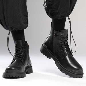Martin boots spring and autumn black short boots