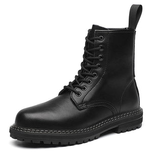 Martens boots men's leather high-top black