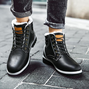Martin boots and velvet-padded cotton shoes