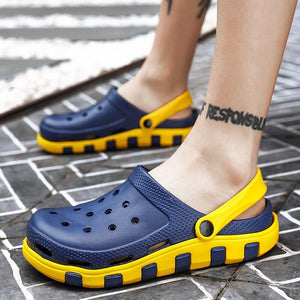 Fashion Sandals Men Clogs Summer Shoes Men Slippers Breathable Anti-Slip Garden Shoes Male Casual Beach Flip-Flops Sandalia