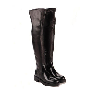 Thigh high boots female knight boots high boots zipper leather boots