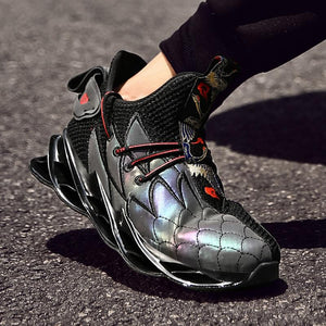 Reflective Sports Shoes Blade Series Running Shoes Wearable Sole Professional Athletic Cushioning Black Jogging Shoes