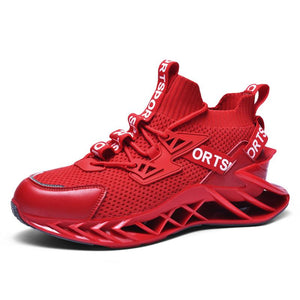 Pure color lightweight sports casual mesh men shoes