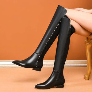 Thick Heel Boots and Pointed Toe Boots with high heels