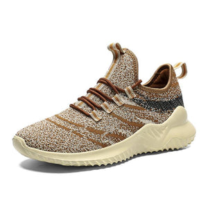 Stylish men's athletic shoes Flyknit running shoes comfortable and breathable