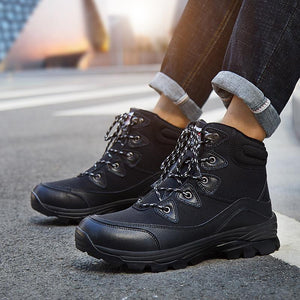 Hiking shoes and velvety cotton shoes Outdoor casual shoes high up