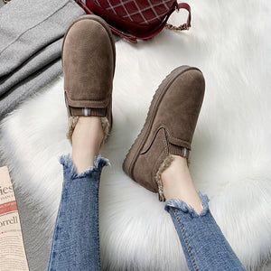 Warm cotton shoes with short tubes for women
