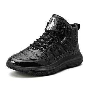 Warm high-top cotton shoes for men