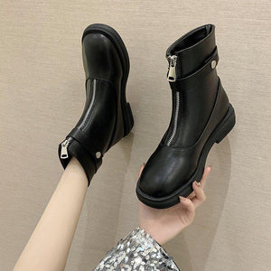 Warm Martin boots high heel shoes women high boots plus cashmere shoes
