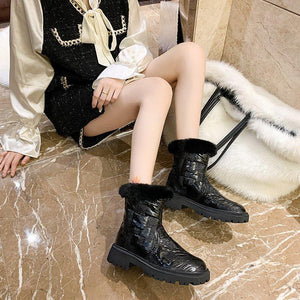 Winter cotton shoes high-top as well as velvet women snow shoes