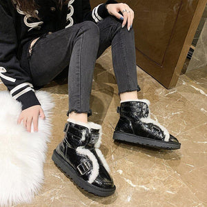 Winter short boots wild plus velvet thick cotton shoes snow boots women