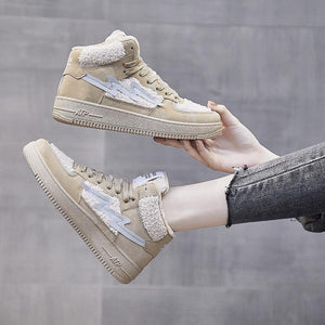 Winter plus velvet sports women shoes high-top cotton shoes