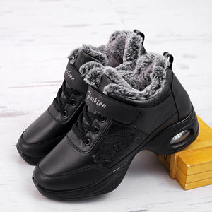 Winter plus velvet warm dance shoes soft sole leather adult dance shoes thick cotton shoes