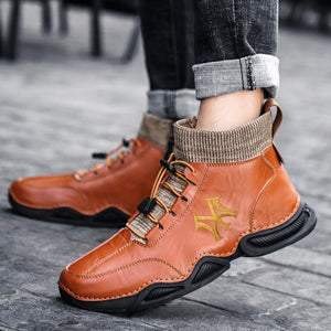 Winter cotton shoes lace up sports and leisure shoes for men