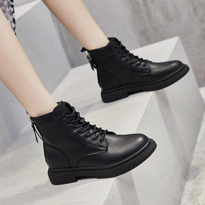 Winter zipper plus velvet cotton shoes women shoes