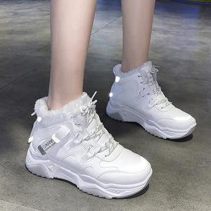 Winter sports women's shoes high-top cotton shoes