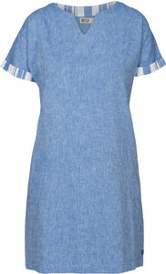 Batela Ladies Short Sleeved Linen Dress