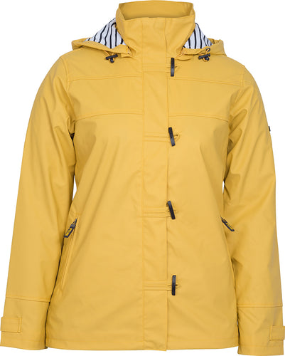 Ladies Nautical Style Raincoat - with striped lining