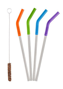 Klean Kanteen Stainless Steel Straw Set - 5 Pieces, Multi Coloured