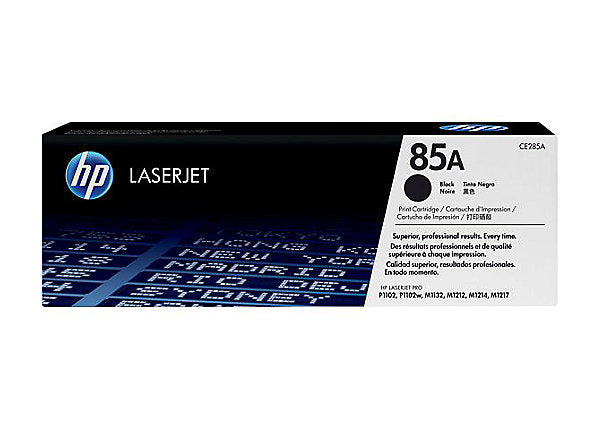 HP 85A - black - original - LaserJet - toner cartridge (CE285A)
