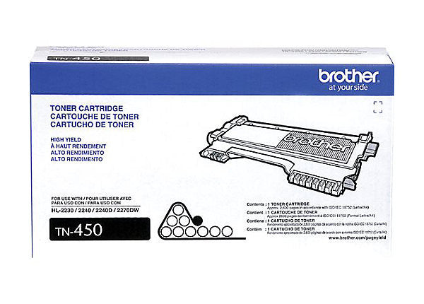 Brother TN450 - High Yield - black - original - toner cartridge