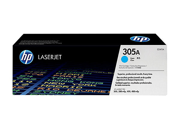 HP 305A - cyan - original - LaserJet - toner cartridge (CE411A)