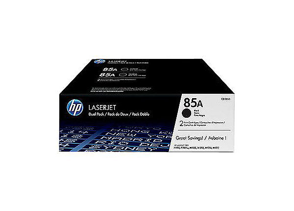 HP 85A - 2-pack - black - original - LaserJet - toner cartridge (CE285D)