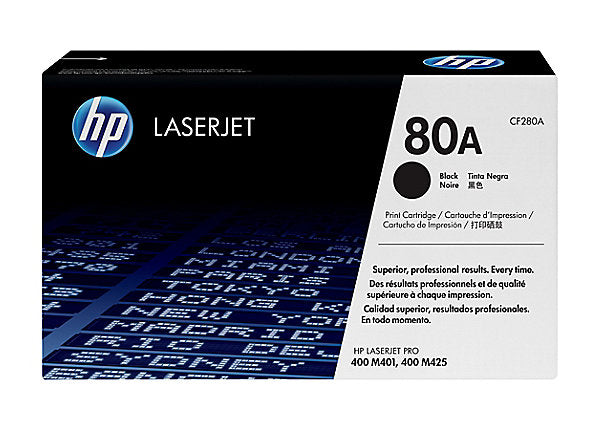 HP 80A - black - original - LaserJet - toner cartridge (CF280A)