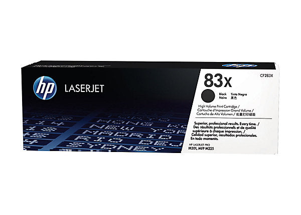 HP 83X - black - original - LaserJet - toner cartridge (CF283X)