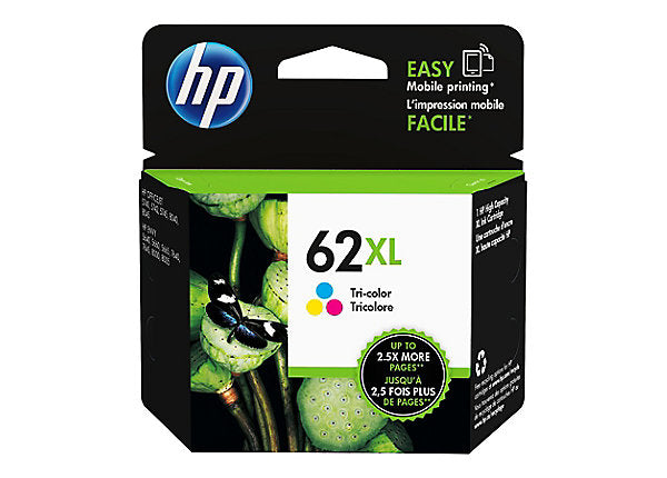 HP 62XL - High Yield - tricolor - original - ink cartridge