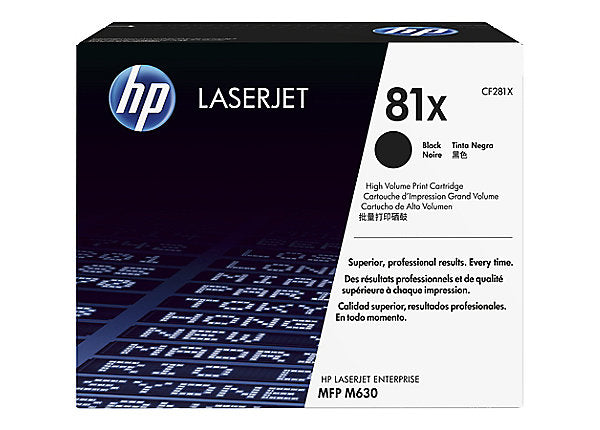 HP 81X - High Yield - black - original - LaserJet - toner cartridge (CF281X)