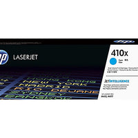 HP 410X - High Yield - cyan - original - LaserJet - toner cartridge (CF411X)