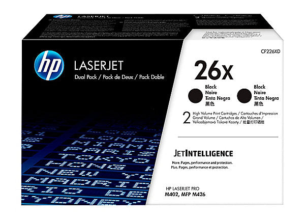 HP 26X - 2-pack - High Yield - black - original - LaserJet - toner cartridge