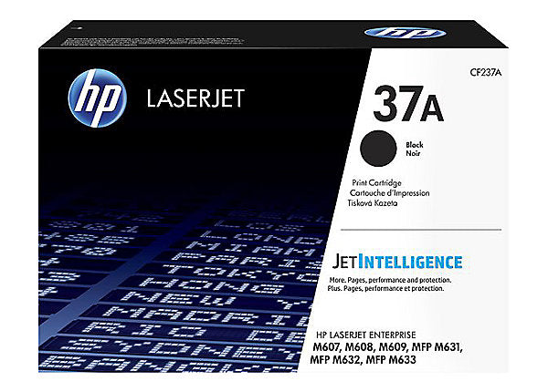 HP 37A - black - original - LaserJet - toner cartridge (CF237A)