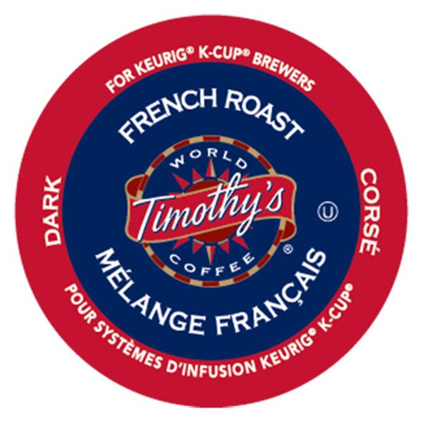 Keurig® Timothy's® French Roast - Dark, 24 pods / pack