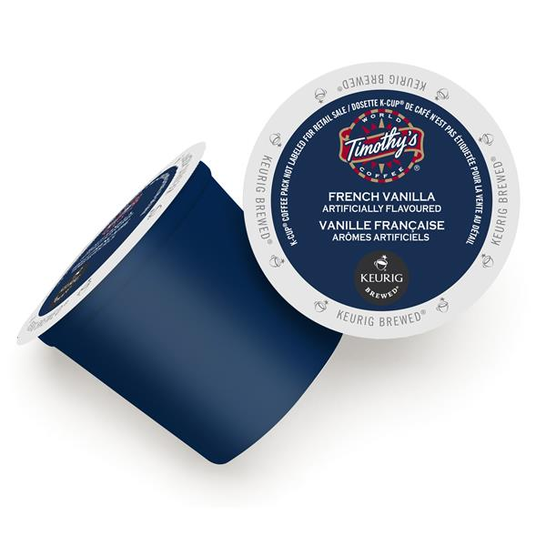 Keurig® Timothy's® French Vanilla - Medium, 24 pods / pack