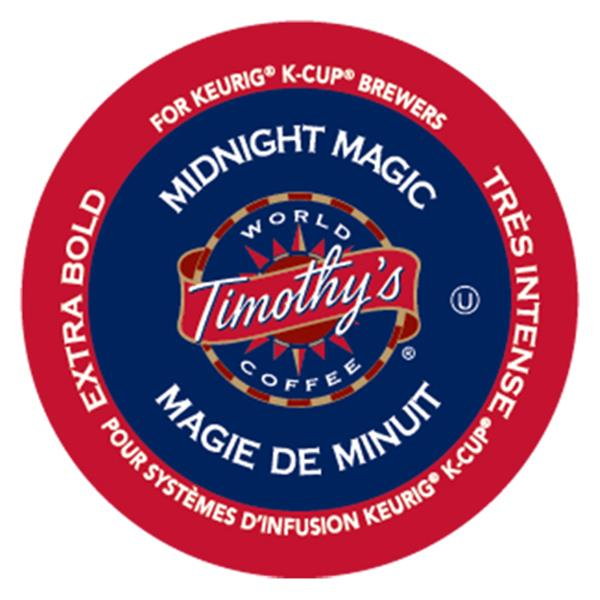 Keurig® Timothy's® Midnight Magic - Extra Bold - Dark, 24 pods / pack