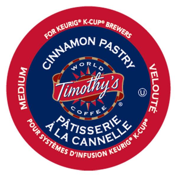Keurig® Timothy's® Cinnamon Pastry - Medium, 24 pods / pack