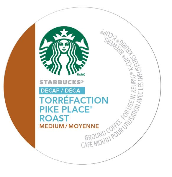Starbucks® Decaf Pike Place® Roast - Medium, 24 pods / pack