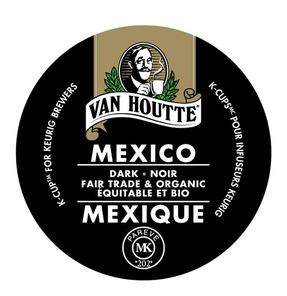 Keurig® Van Houtte® Mexico - Fair Trade and Organic - Dark, 24 pods / pack