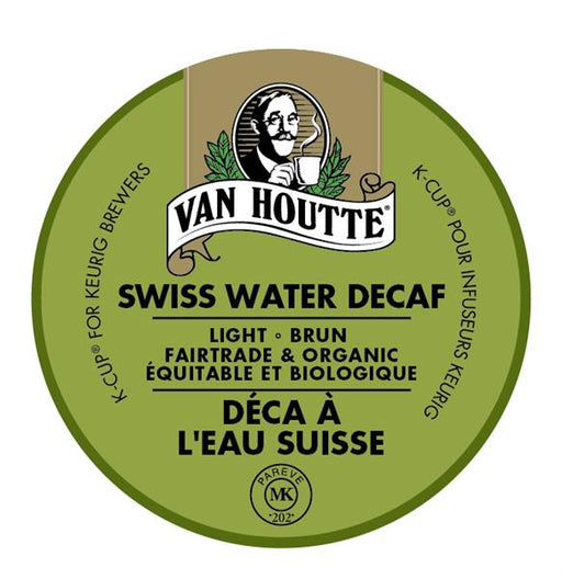 Keurig® Van Houtte® Swiss Water® Process Decaf - Fair Trade and Organic - Light, 24 pods / pack