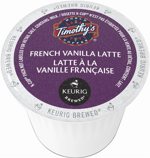 Keurig® Timothy's® French Vanilla Latte, 24 pods / pack